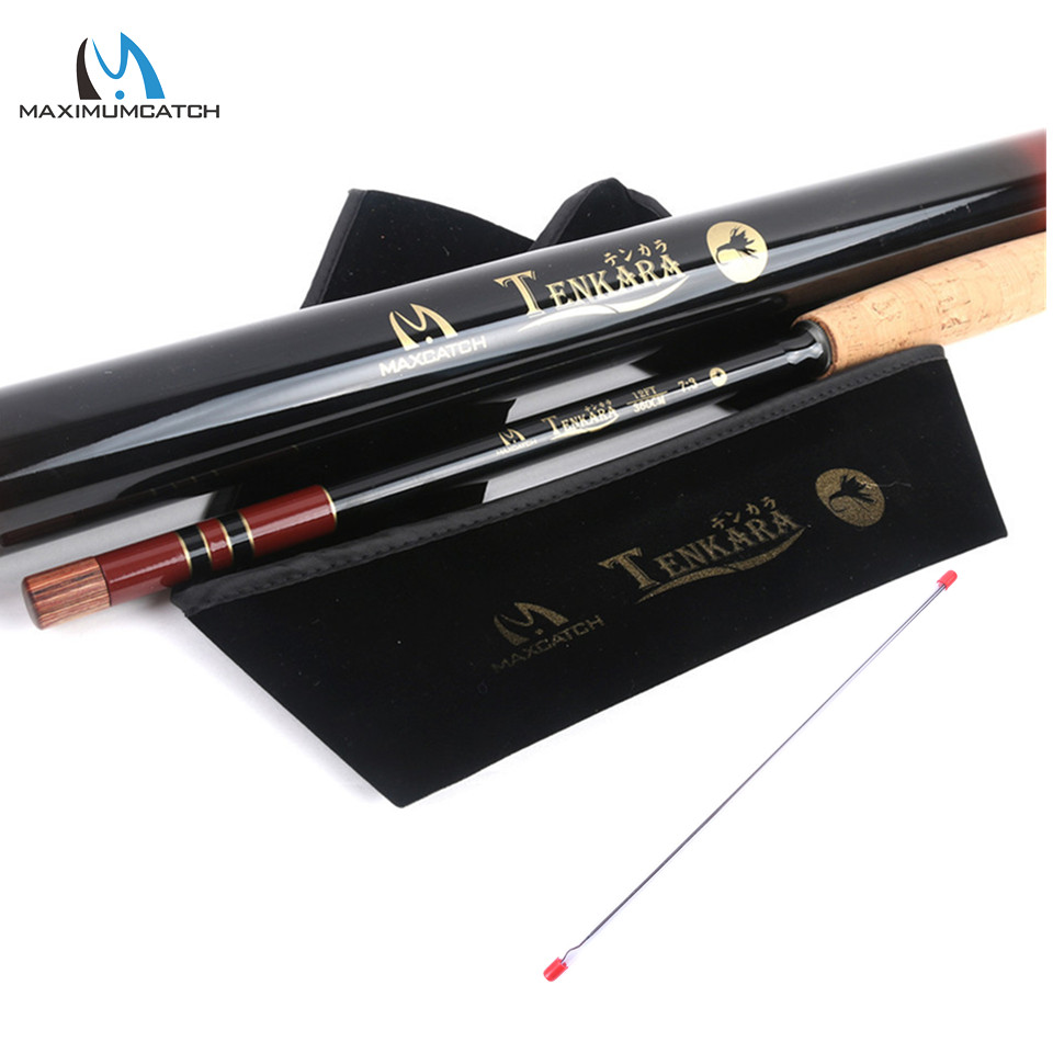 Maximumcatch 12FT/3.6m Telescoping Tenkara Rod  7:3 Action 9 Segments Fly Rod with Spare Tip&Carbon Tube maximumcatch 13ft tenkara fly fishing rod 7 3 action 9 segments super light traditional tenkara fly rod