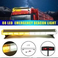 88 W Auto LED Flash Emergency Waarschuwingslampje 88LED Strobe Flash Light Amber/Wit Beleid Auto Dubbelzijdig Waarschuwingslampje Assemblly