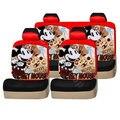 10 unids Lindo Mickey Mouse Algodón Lycra Cubierta de Asiento de Coche Four Seasons General Asiento de Auto Cubre los Sistemas 5 disign