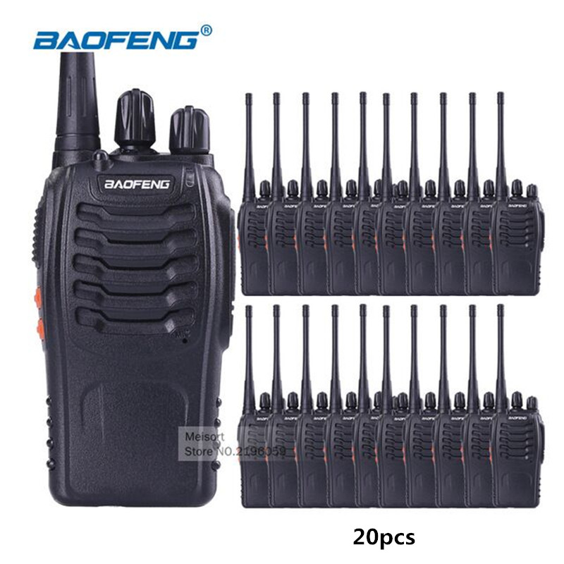 20 pcs/lot Baofeng BF 888S talkie walkie UHF 400 470 mhz Radio jambon FM émetteur récepteur chasse Radio Portable Portable poste CB-in Talkie Walkie from Téléphones portables et télécommunications on AliExpress - 11.11_Double 11_Singles' Day 1