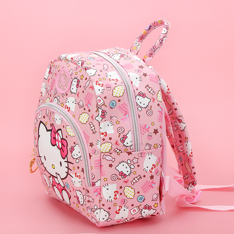 dd794a040 New Cartoon Cute Genuine Hello Kitty Backpack Hellokitty Bag High Quality Pu  Pink School Bags Melody Travel Bag For Girls Gift