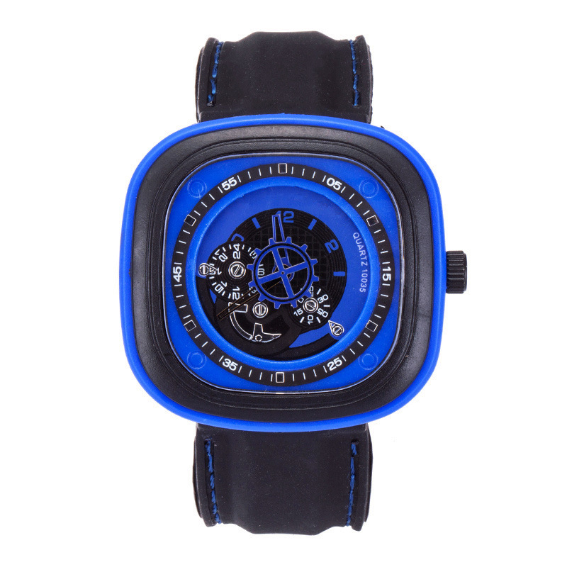 Brand original unique design square male font b watch b font large dial casual gear square
