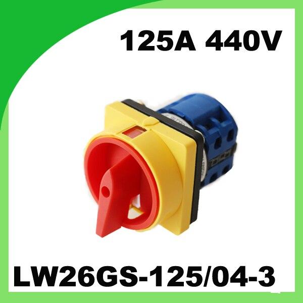 Interrupteur rotatif LW26GS-125 interrupteur de verrouillage 125A 440 V commutateur de commutation universel