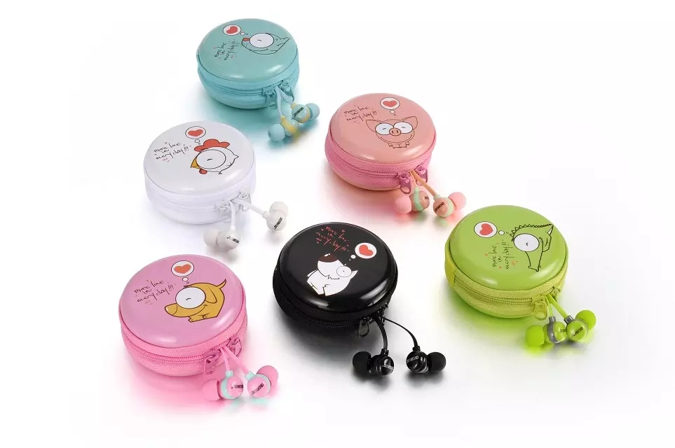 KEEKA Cute Cartoon Earphone in-ear Candy Color Girl Lovely Earbuds Phone Universal mp3 for children youngster keeka mic 103 stylish universal 3 5mm jack wired in ear headset w microphone red blueish green