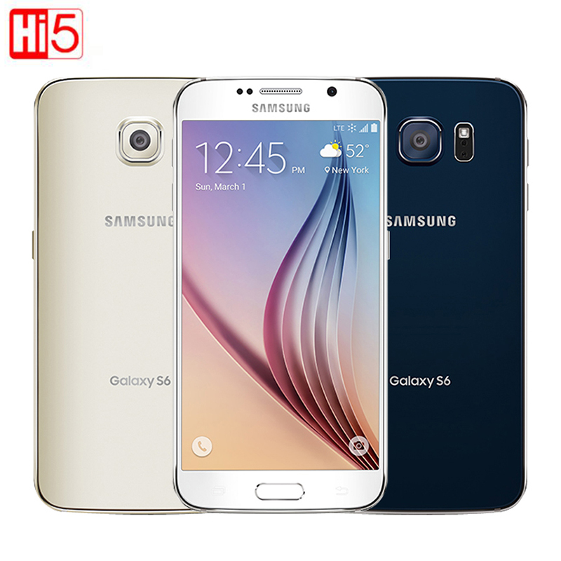 Desbloqueado Samsung Galaxy S6 G920F/G920V sola tarjeta sim Octa Core 3G RAM 32 GB ROM WCDMA LTE 16MP Cámara 5,1 pulgadas Bluetooth