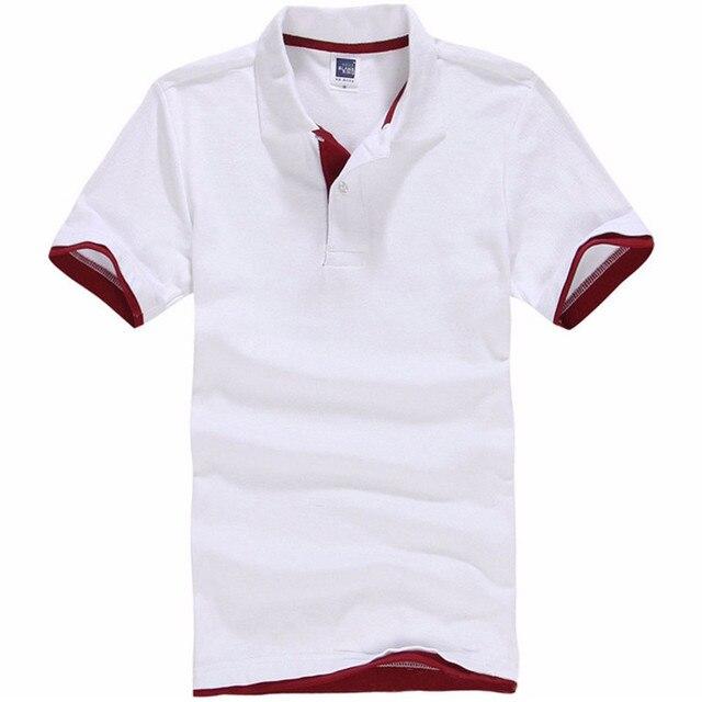 5024ee0f95 2017 Nova Marca Polos Mens Impresso Camisas POLO 100% Algodão Camisa Pólo  de Manga curta