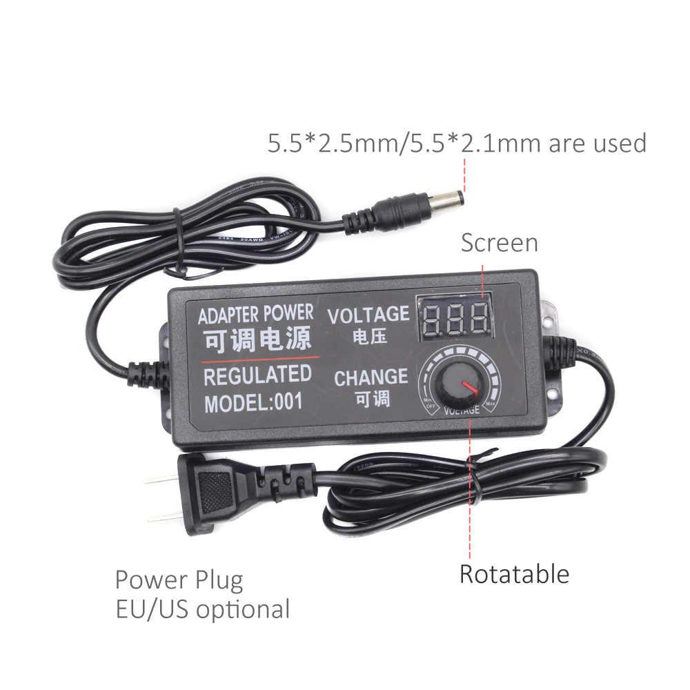 Трансформатор Питание AC 110 V 220 V к DC 12 V 3 V 5 V 24 V Регулируемый адаптер с Дисплей 3A светодио дный драйвер для Светодиодные ленты