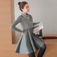 Real Photo Mode Frauen Winter Kleid Casual Slim Fit Sweety Kaninchenfell A-line Dicke Mini Kleid Vestidos Korea Stil