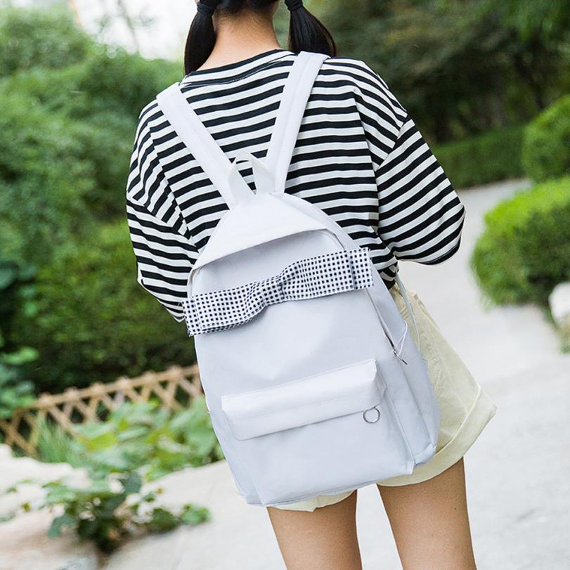 Enthusiastic Fishsunday Outdoor Sports Bags Girls Canvas Black White Color Bow Shoulder Bag Student Climbing Bag Travel Backpacks 0801 Low Price