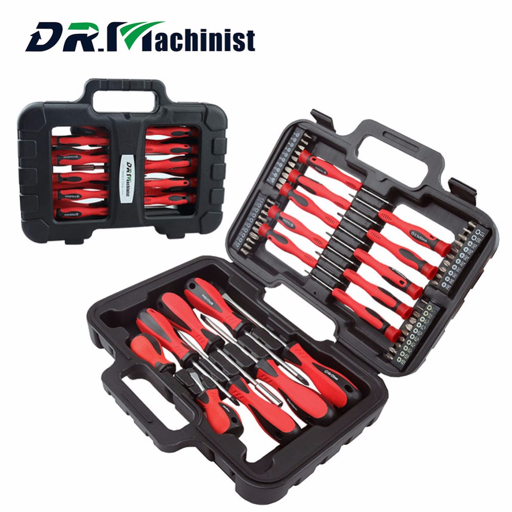 DR.Machinist Insulated Screwdriver Set Precision Phillips Slotted Torx Screwdriver Magnetic Multitul Hand Tools 58pcs high quolity strong precision electron torx mini magnetic screwdriver tool set hand tools kit opening tools