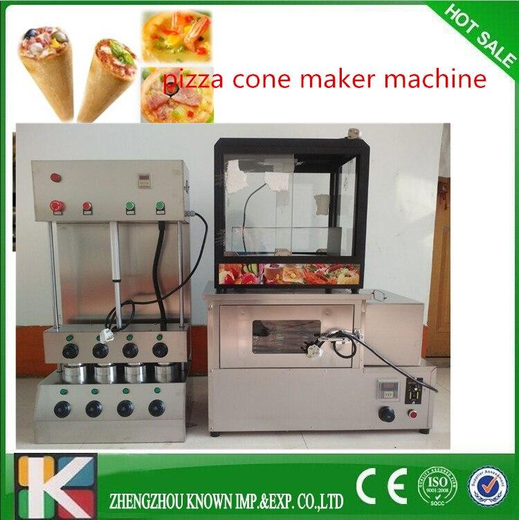 Hot sale!High quality 3 pcs machine including pizza cone machine pizza oven machine + display cabinet factory price pizza cone oven pizza cone machine pizza vending machines for sale