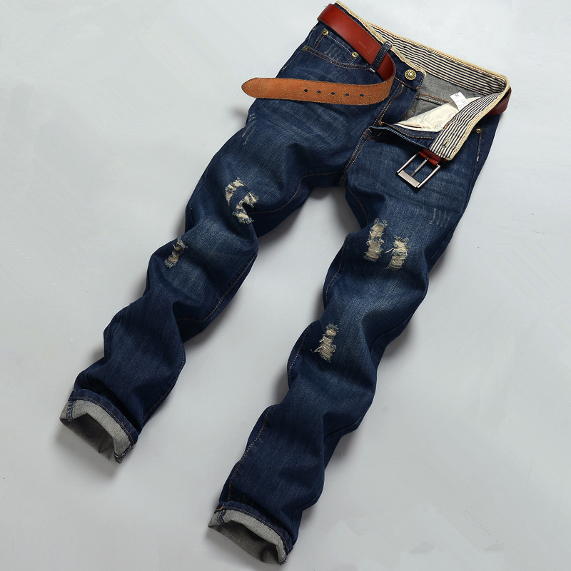 Fashion Design Jeans For Men Plus Size Ripped or Classical Denim Pants Mens Regular Jeans Straight Casual Denim Trousers men s cowboy jeans fashion blue jeans pant men plus sizes regular slim fit denim jean pants male high quality brand jeans