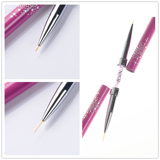 1 pc double ended nail art liner brush ultra thin line draw pen 1 pc double ended nail art liner brush ultra thin line draw pen rhinestone prinsesfo Image collections