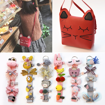 цена на 5PCS/Shoulder Bag Cartoon Crown Bow Girls Cute Hairpins Handmade Princess Barrettes Hair Clips Headbands Kids Hair Accessories
