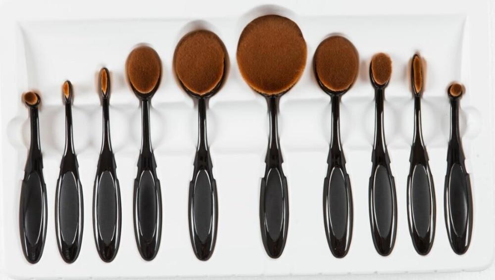 ФОТО high quality paint art brushes free style oil watercolor acrylic brush WSH brush taklon hair plastic handle