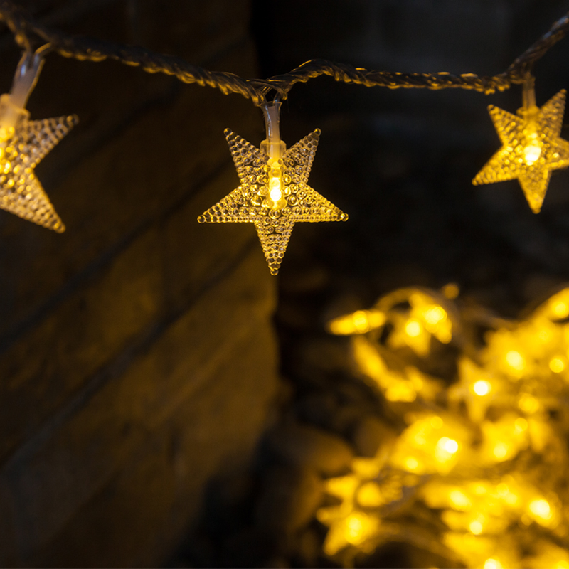 Christmas Star Lights Outdoor Part - 21: Christmas Lights 10M 100LEDs Garland Outdoor Star String Lights Christmas  Xmas Decoration Wedding Party LED String