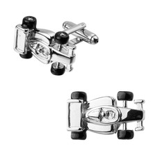 Men's shirts Cufflinks high-quality copper material A silver car Cufflinks 2 pairs of packaging for sale