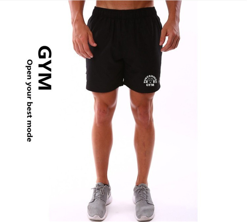 New Hot Sale Men Bodybuilding Short Fitness Workout Clothes Muscular Jogger Muscle Wears 4 Colors Size
