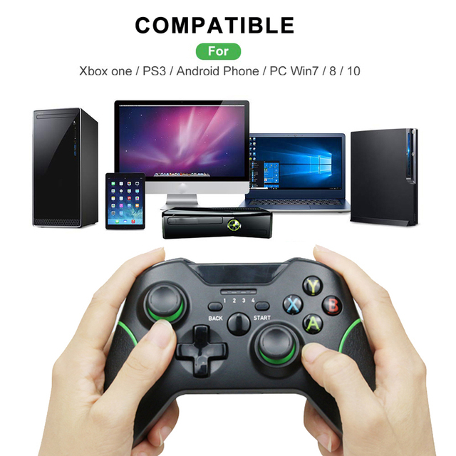 2.4G Wireless Controller Gamepad For Xbox One Console Controle For PC win 7/8/10 For PS3 Console For Android/phone /TV Joystick