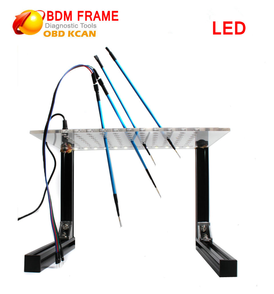 New Arrival LED BDM Frame With LED And 4 Probe Pens For  KESS KTAG Fgtech BDM100 ECU Programmer Tool With Free Shipping
