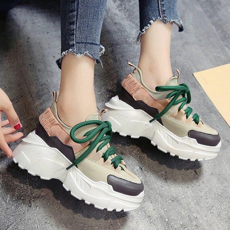 Casual 2018 Femme noir Chaussure Nouveau Chaussures Formateurs Sneakers Beige Dames Plate Vulcanisé forme Automne Femmes Confortable 8wPn0Ok