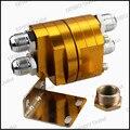 Racing Universal Junta Tórica de Alta Calidad De Aluminio Del Filtro de Aceite Enfriador Para El Kit del Refrigerador de Aceite/aceite Adaptador