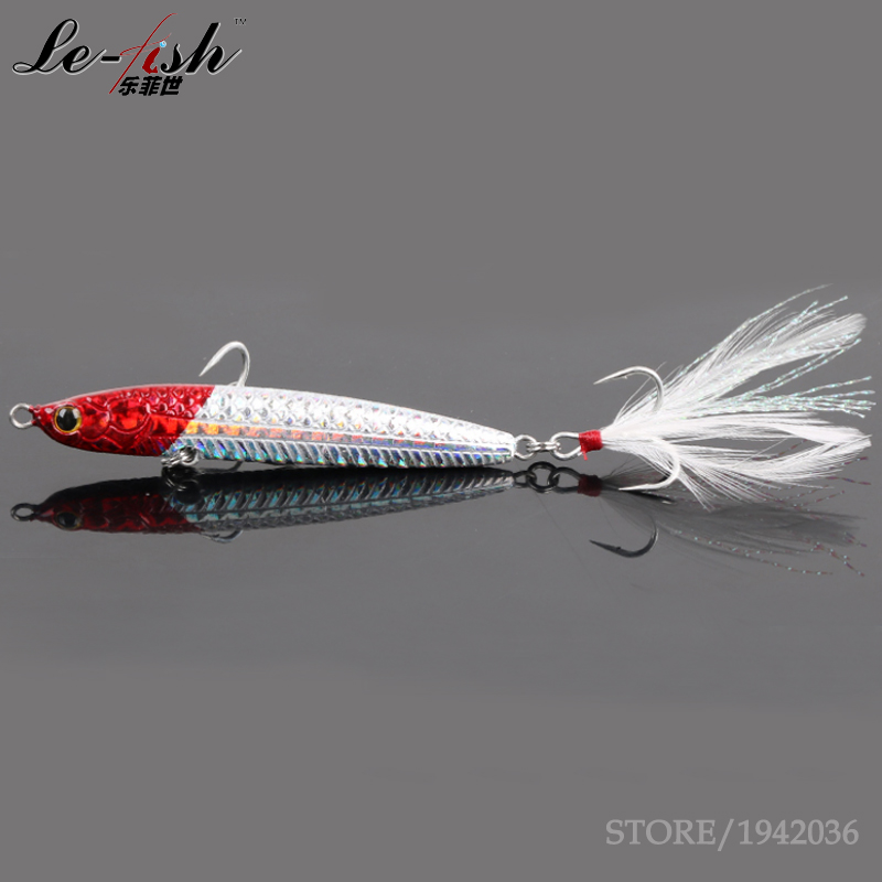 Le-Fish New Sea Fishing Metal Jig Lead Hard Fishing Lure 77mm/70mm/20g/30g Artificial Bait Boat Cast Wholesale New