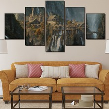 Historical Site Landscape Decor Painting HD Printed Picture Paintings Canvas Wall Art Home