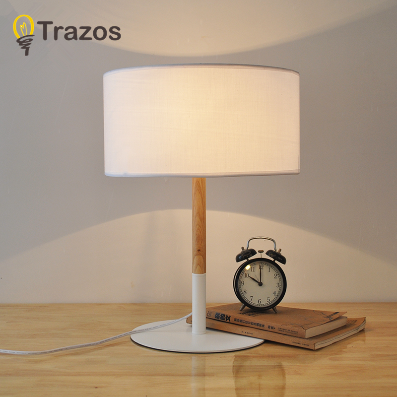 цены TRAZOS Modern Table Lamp Hotel Book Lights lamparas de mesa Bedside Reading Light E27 Luminaria de mesa With LED Bulb For Free