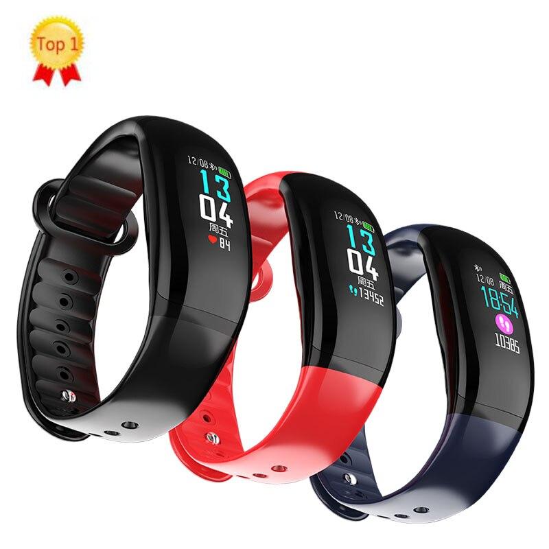 2019 HR Fitness Tracker activité montre étanche bande intelligente avec compteur de pas sommeil compteur de calories Fit Bit pour Android et iOS