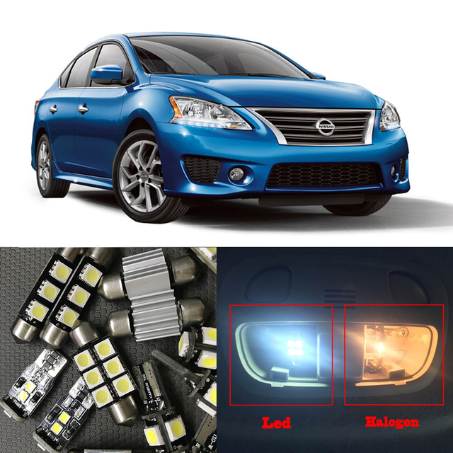 8pcs White Interior Led Light Bulbs Package Kit For Nissan Sentra