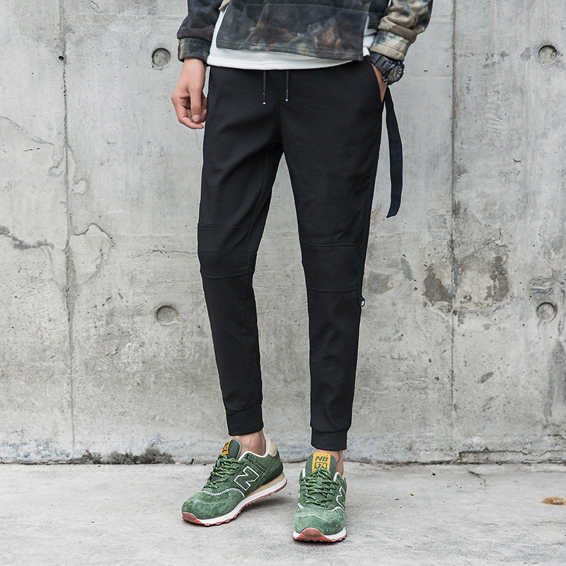 2018 High Quality Streamer Feet Casual Pants Pencil Slim Personality Fashion Classic Pop Tide Male Youth Work Clothes Punk Style