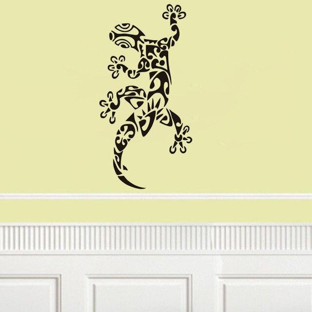 Personality tribal lizard vinyl wall decal home decor living room ...