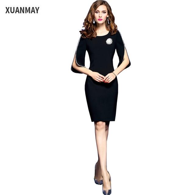 Zomer dress 2017 lange stijl zwart dress hoge kwaliteit retro stijl sequin dress goedkope kleding china vrouwelijke grote maat kleding