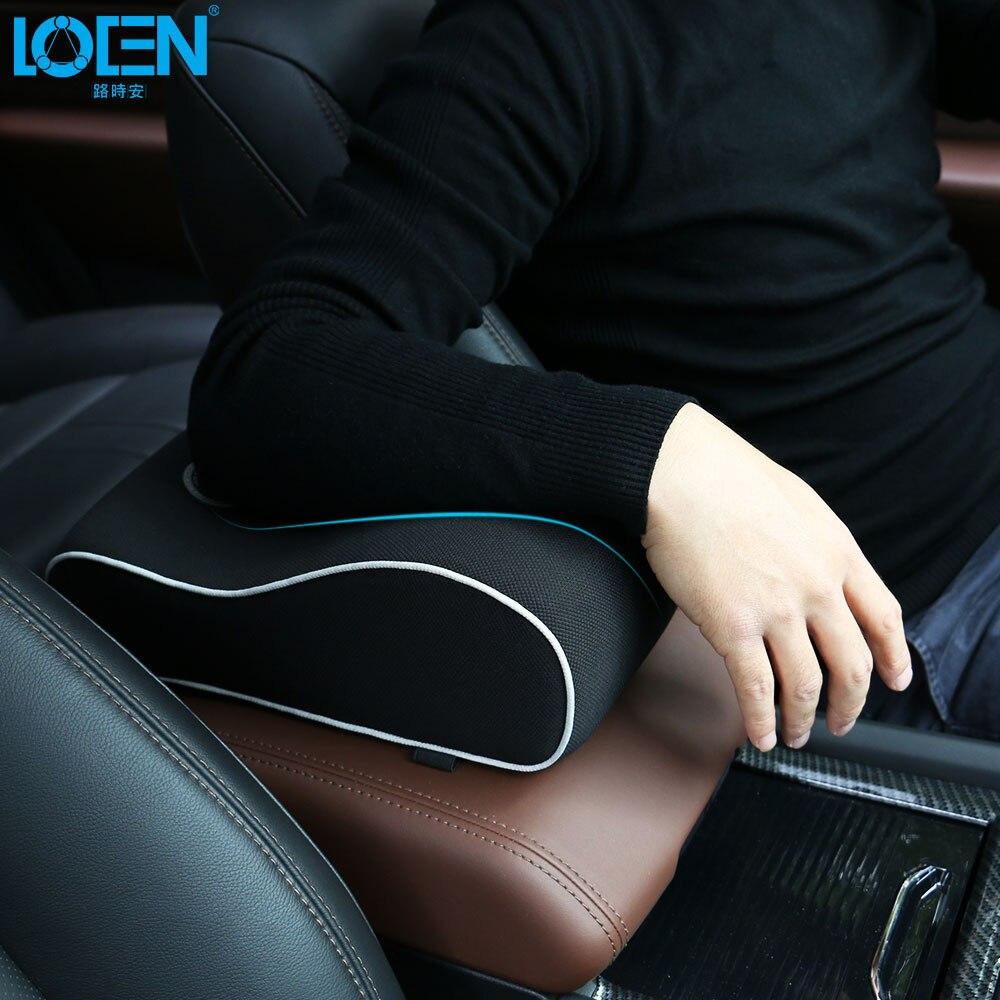 1PCS Memory Foam Car Center Console Cushion Armrest Cover Auto Seat Arm Rest Pad Flax Universal Auto Accessories 6 Colors