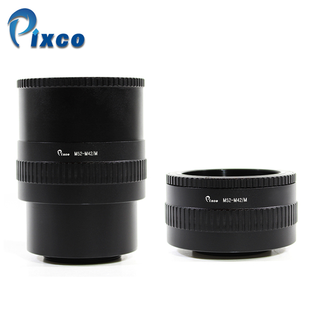M52 Lens to M42 Camera Adjustable Focusing Helicoid Ring Adapter 36  90mm Macro Extension Tube M52 M42