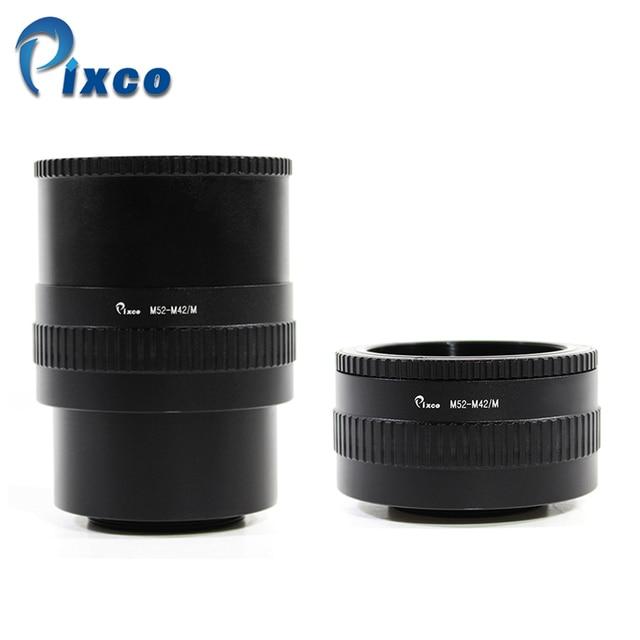 M52 lente para M42 Cámara ajustable enfoque helicoidal anillo adaptador 36-90mm Macro extensión tubo M52-M42