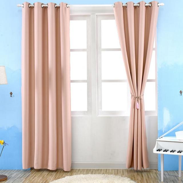 Western Style 100250cm Curtains For Living Room Shading Blackout Curtain Bedroom Punching Grommet