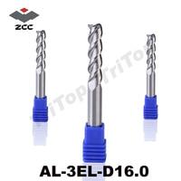 100% Guarantee Original ZCCCT AL 3EL D16.0 Solid carbide 3 flute flattened end mill 16mm long cutting edge cnc tools milling
