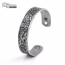 my shape magnetic bracelet health woman power Vintage Cuff Bangle phoenix knot Pattern Wonder Women Therapy Indian Jewelry New(China)