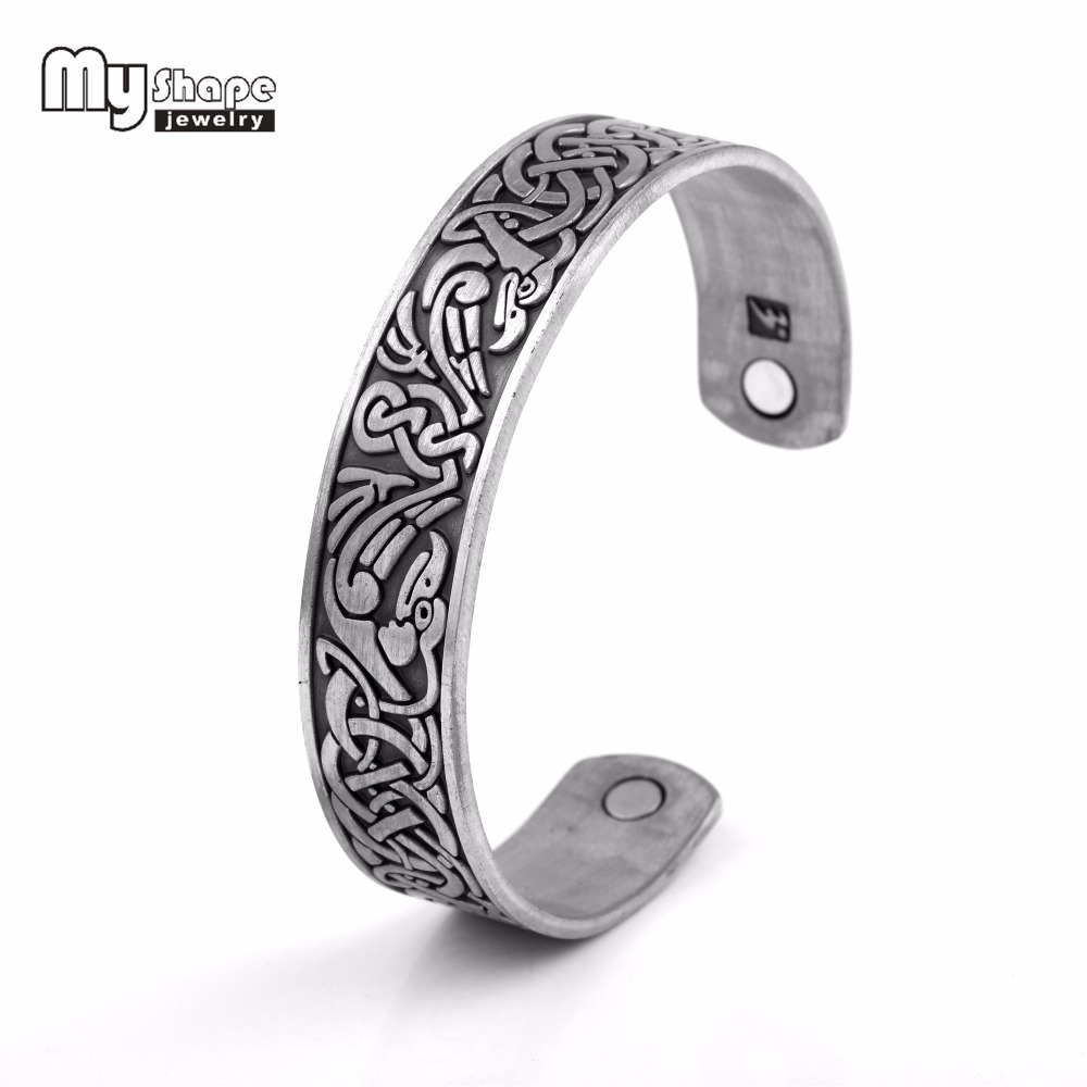 my shape magnetic bracelet health woman power Vintage Cuff Bangle phoenix knot Pattern Wonder Women Therapy Indian Jewelry New delicate layered knot cuff bracelet for women
