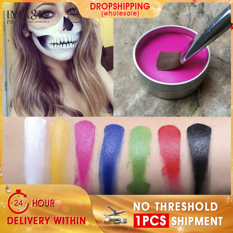 Christmas Halloween Makeup.Us 2 05 45 Off Imagic Face Paint Halloween Makeup Non Toxic Water Paint Oil Christmas Party Fancy Dress Devil Fans Body Face Painting Primer In Body