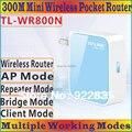 Китайский прошивки высокое качество tp-экраном ссылка TL-WR800N b / g / n 300 Мбит мини портативный WiFi беспроводной N300 маршрутизатор повторитель огонек TL WR800N