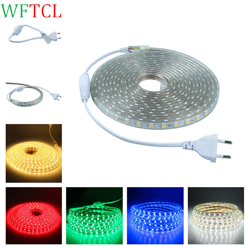 Wftcl ac220 luz de tiras led strip light smd5050 60leds m - Tiras de led exterior ...