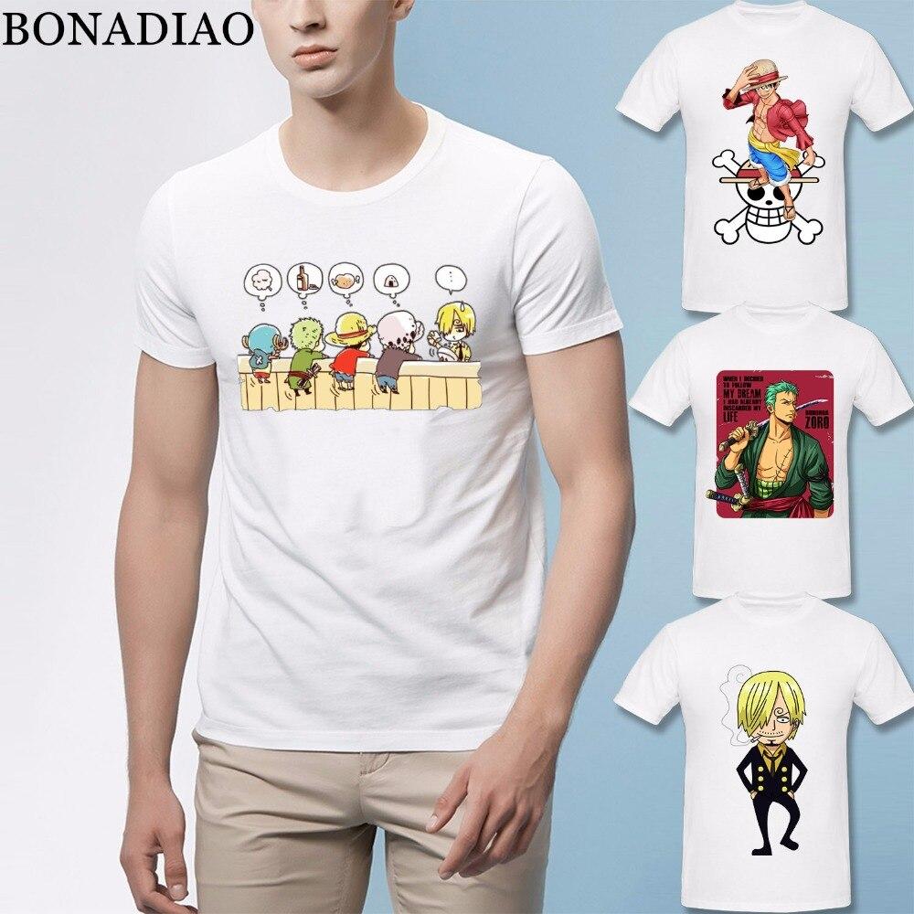 One Piece T Shirt Luffy Roronoa Zoro Sanji Nami Tony Chopper Nico Robin Usopp Franky T Shirt Japanese Anime Homme Tee Shirt