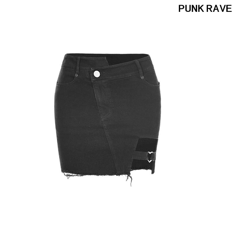 Falda 302bqf Punk Ropa Mini Corta Asimétrico Black Stretch Forma Sexy Denim De Corte Rock Corazón Opq Algodón Club Oscuro Rave xwq8UXZyY