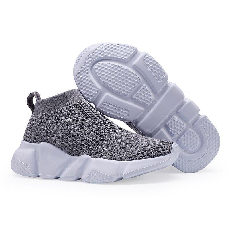 aeb920ee6 QIUTEXIONG Casual niños zapatos para niñas chicos niños de zapatillas  calcetín zapato malla transpirable Slip-