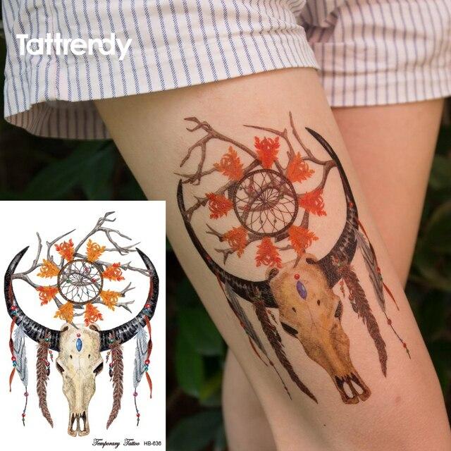 Lower Body Tattoos: 1piece Temporary Tattoo Dreamcatcher Bracelet Big Lower