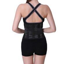 Hombres y Mujeres ajustable Elstiac cinturón de apoyo Lumbar de espalda cinturón de ejercicio corsé adelgazante cintura Trainer HB14