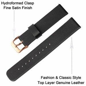 Image 5 - 삼성 갤럭시 시계 42mm r810 퀵 릴리스 밴드 교체 스트랩 손목 팔찌에 대한 정품 가죽 손목 시계 20mm 로즈 골드